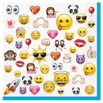 Emoji ubrousky 16ks 2-vrstvé 33cm x 33cm