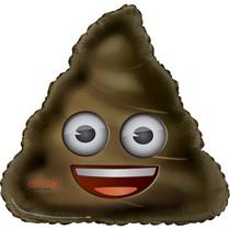 Emoji Poop hovínko foliový balónek 81cm