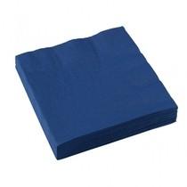 Ubrousky 20ks 33x33cm 3-vrstvé modré