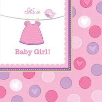 Ubrousky Baby Girl 16 ks 33 cm x 33 cm