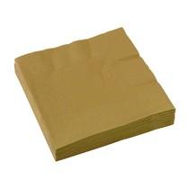 Ubrousky zlaté 20 ks 33 cm x 33 cm 2-vrstvé