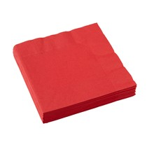Ubrousky červené 20 ks 33 cm x 33 cm 2-vrstvé Amscan