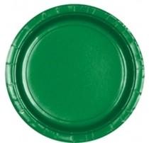 Talíře papírové Green 8ks 18cm