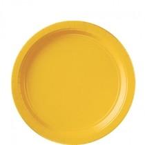 Talíře Yellow 8ks 18cm