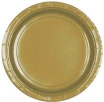 Talíře Gold 8ks 18cm