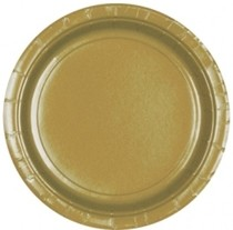 Talíře Gold 8ks 23cm
