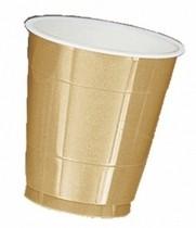Kelímky Gold třpytivé 10ks 355ml plastové