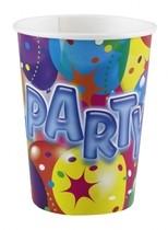 Kelímky balon party 8ks 0,25l