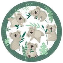 Koala talířky papírové 8 ks 22,8 cm