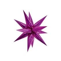Hvězda růžová 70 cm 3D foliový balón