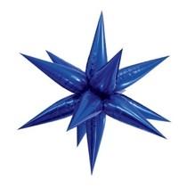 Hvězda modrá 100 cm 3D foliový balón