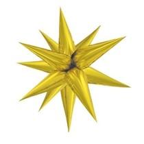 Hvězda zlatá 100 cm 3D foliový balón