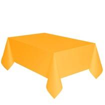 Ubrus žlutý dva v jednom - papír + PVC 1,7cm x 274cm