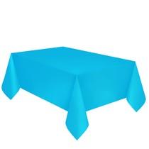Ubrus světle modrý dva v jednom - papír + PVC 137cm x 274cm