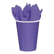 Kelímky papírové New Purple 8ks 266ml