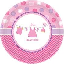 Talíře Baby Girl 8 ks 26,7 cm