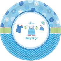 Talíře Baby Boy 8 ks 26,7 cm