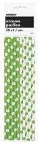 Slámky 10 ks zeleno - bílé
