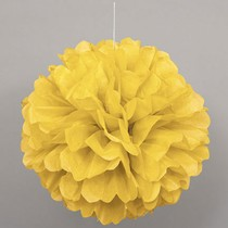 Papírová dekorace žlutá 40cm