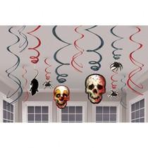 Halloween závěsné dekorace 12ks 17cm x 12cm