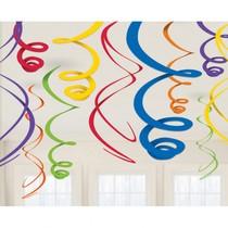Závěsná dekorace barevná 12 ks 55,8 cm