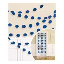 Závěsná dekorace modré s glitry 6 ks, 213 cm