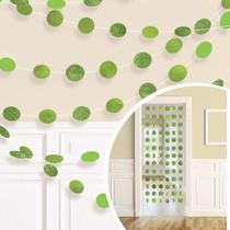 Závěsná dekorace zelená s glitry 6 ks, 213 cm