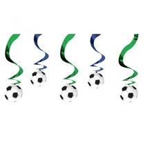 Závěsná dekorace fotbal 6ks 70cm
