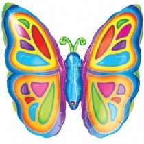 Motýl foliový balónek 63cm x 63cm