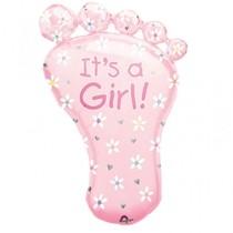 It's a Girl ! fóliový balónek 58cm x 82cm