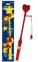 Držiak na lampióny s blikajúcim striečkom/ hviezdou 34cm