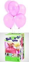 Helium Balloon time + balónky Pink 30ks