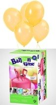 Helium Balloon time + balónky Yellow 30ks
