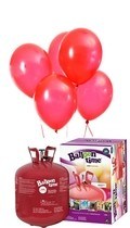 Helium Balloon time sada 50ks balonky Red 001
