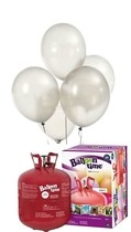 Helium Balloon time sada 50ks balonky White 002