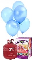 Helium Balloon time sada 50ks balonky Sky Blue 003
