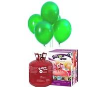 Helium Balloon time sada 50ks balónky Lime Green