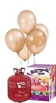 Helium Balloon time sada balónky Metallic Gold