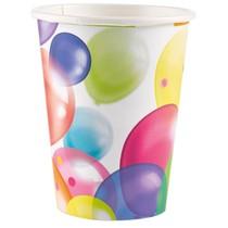 Kelímky balónky papírové 8 ks 250 ml