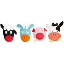 Farma masky zvířátek 8 ks mix