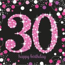 Ubrousky 30. narozeniny 16 ks 33 cm x 33 cm