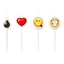 Svíčky Smiley Emotions 4ks