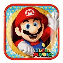 Super Mario talíře 8ks 23cm x 23cm