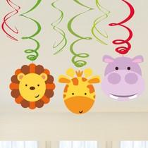 Safari zavěsná dekorace 6 ks