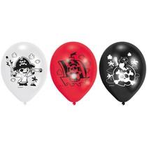 Piráti balónky 6 ks 22,8 cm mix