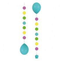 Stuha na balónky barevná 1m 3ks