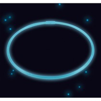 Svítící náhrdelník modrý 56 cm
