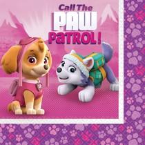 Paw Patrol Pink ubrousky 20ks 33cm x 33cm