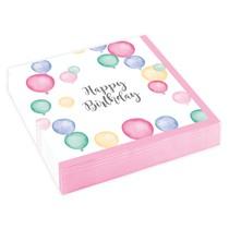Ubrousky balónky narozeniny 20 ks 25 cm x 25 cm