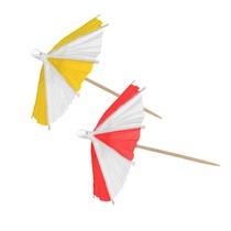 Papírové deštníky 10 ks 9 cm